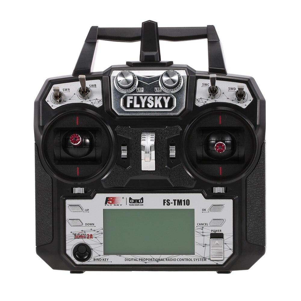 FLYSKY FS-TM10 10CH 2.4 GHz AFHDS 2A télécommande émetteur et récepteur iA10B FS i6X pour Drone FPV hélicoptère avion RC