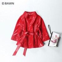 2018 красный Натуральная кожа куртка женская плюс размер натуральная овчина черный розовый фиолетовый кожаный пальто женская верхняя одежда