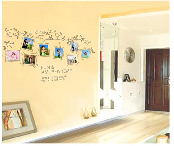 Free Shipping! JM7143 Extra large Cartoon Photo Frame Wall Stickers ...