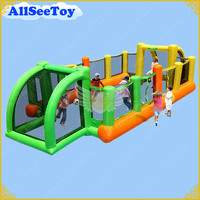Inflatable Football Field for Kids,Nice Inflatable Game for Family,Air blower Included