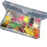 139pcs Fishing Lures Kit Set For Bass,Trout,Salmon,Including Spoon Lures ,Soft Plastic worms, CrankBait,Jigs,Topwater Lures