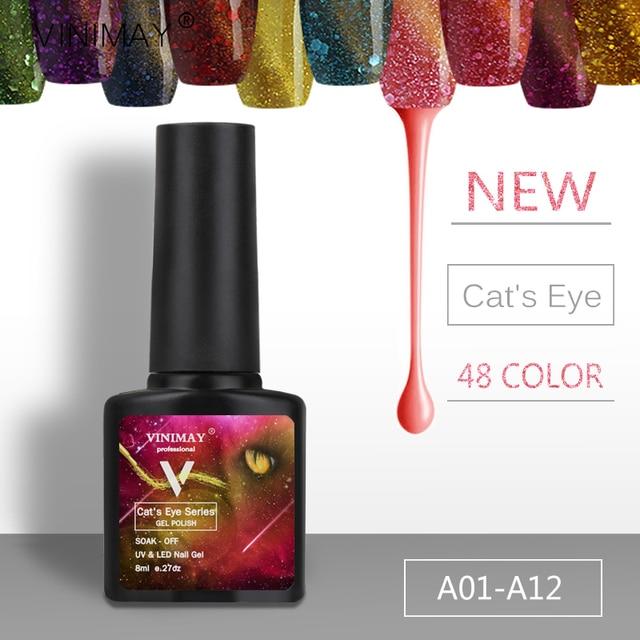 Vinimay 2017 New 3d Cat Eye Gel Nail Polish Primer Uv Varnish Professional Diy
