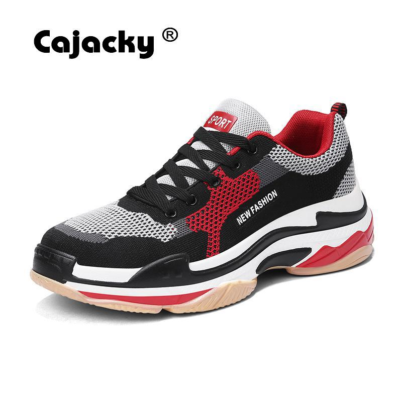 Cajacky Fashion Sneakers Hot Brand Mesh Shoes Breathable Krasovki Male Zapatos Hombre Lightweight Lace Up Flats Unisex Shoes cajacky unisex sneakers 2018 mesh casual shoes men mesh lace up male fly weave krasovki men fashion light breathable trainers