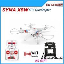 Syma x8w 2.4g 4ch 6 axis rc quadcopter drone con Cámara de 2MP Wifi transmisión en tiempo real X8G Gopro caso como regalo