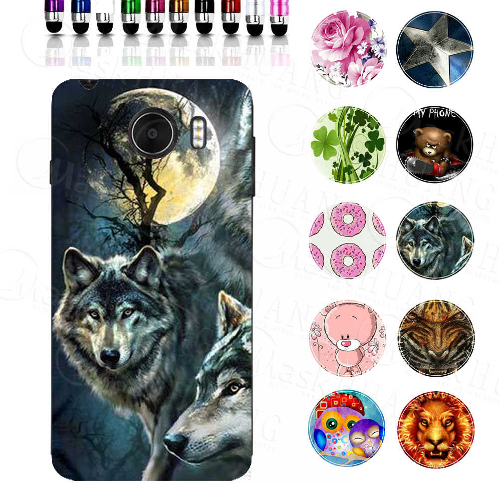 Wolf Cartoon Animal Print Case Cover for Prestigio Grace Z5 PSP5530DUO Soft Shell Housing Bag