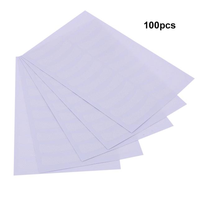 100pcs Paper Patches Eyelash Shields Perm Curler Curling False Fake Eyelashes Extention Under Eye Pads Tips White Sticker Wraps 5
