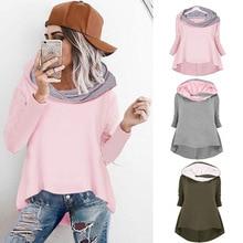 new hot American style solid street wear hooded woman sweatshirt fashion long sleeve pullover female