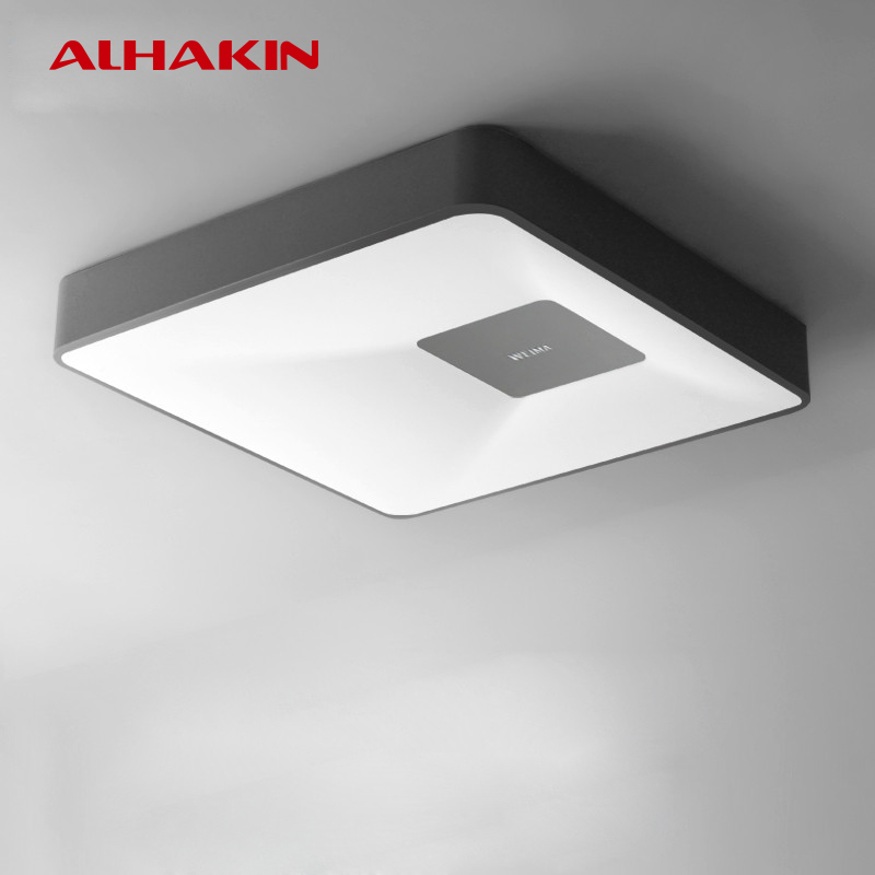 Alhakin Ceiling Lamps 30w Matt Black White Pmma Metal Living Room Ceiling Lamp Indoor Ceiling