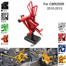CNC Aluminum Adjustable Rearsets Foot Pegs For Honda CBR250R CBR 250R 2010 2011 2012 2013 cnc motorcycle parts rearsets foot pegs rear set for benelli bj600gs 2010 2011 2012 2013 red color