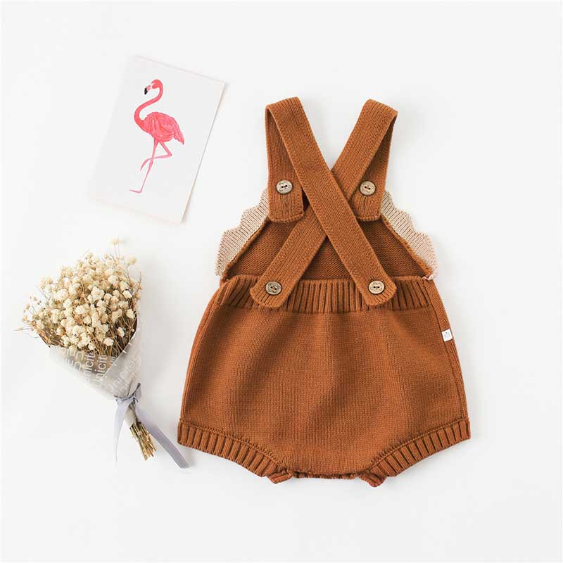 Baby Boys Girls Bodysuits With Woolen Ears Sweaters Buns Butterflies Conjoined Clothes Crawling Baby Jumpsuit Baby Rompers 3