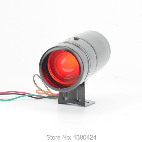 Adjustable Tachometer RPM Tacho Gauge Shift Light Lamp RED LED Universal 0-11000 Color Black