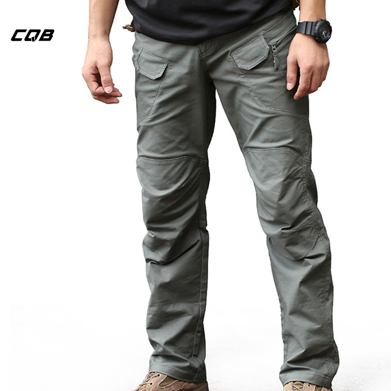 CQB Outdoor Sport Tactical Military Men's Pants for Climbing Overalls Trekking Breathable Trousers Multi-pocket Traveling Pants image