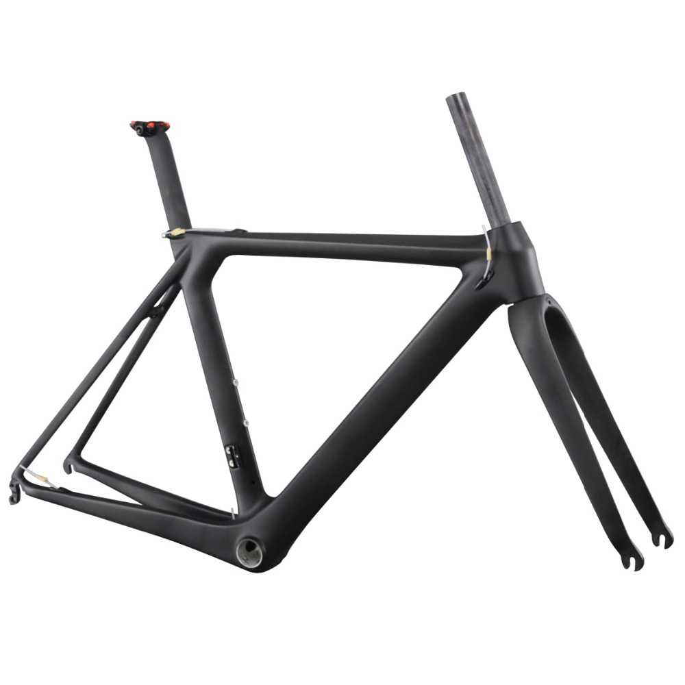 ICAN Full Carbon Aero Road Frameset BB86&Di2 Are Available UD Matte Finished Size 50/52/54/56/58/60cm Frame