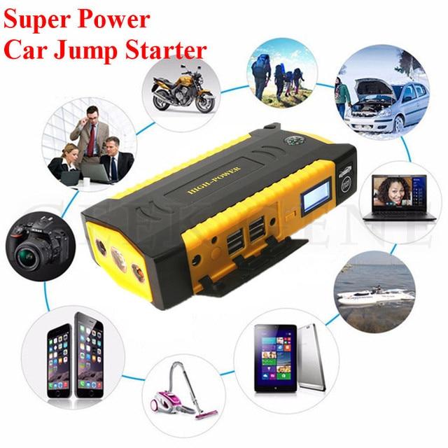 New Capacity 16000mAh Emergency 12V Car Jump Starter Portable 4USB Power Bank SOS Lights & Compass 600A Peak Auto EPS Free Ship