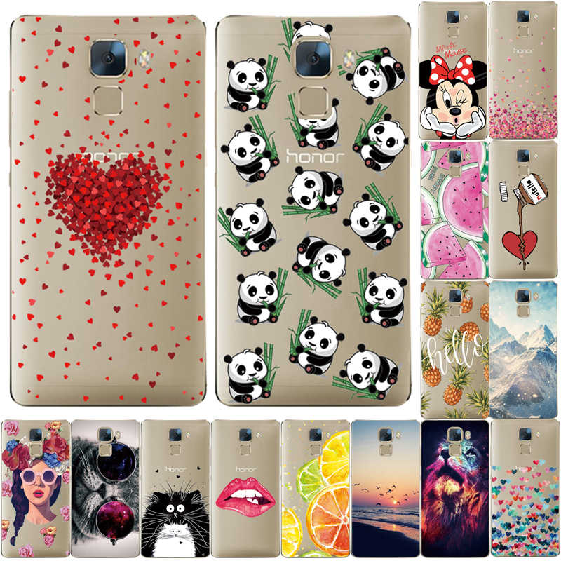 Phone Case For Huawei Honor 7 Case Protection Soft TPU Cover For Huawei Honor7 Cover Back Silicone Shells Fundas For Honor 7 Bag