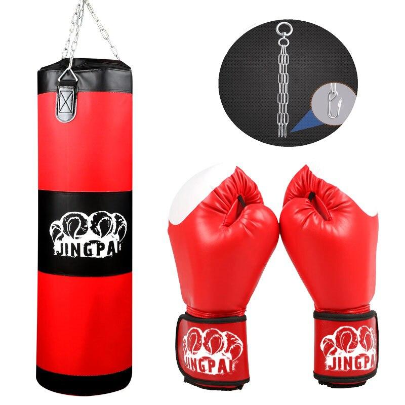 Entraînement Fitness MMA Fighter muay thai sac de boxe crochet suspendu Sport sable poinçon poinçonnage Saco Boxeo sac de sable et un ensemble de gants