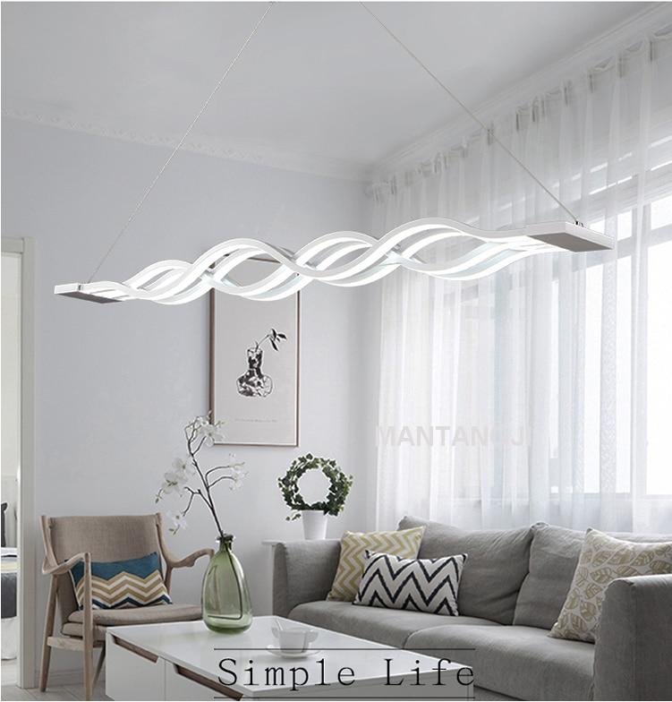 US $64.1 56% OFF Neue Kreative moderne LED anhänger lichter Welle hängen  lampe esszimmer wohnzimmer anhänger licht 110 v 220 v-in Pendelleuchten aus  ...