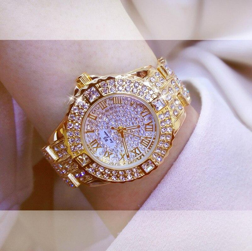 2018 Women Rhinestone Watches men Silver Lady Dress Watch brand Stainless Steel Band Big Dial Bracelet Wristwatch Crystal Watch все цены