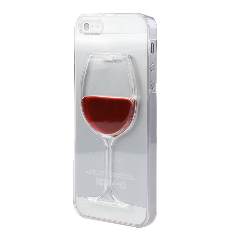 transparent case for apple iphone 5 5s se 5se luxury 3d red wine glass liquid hard pc clear snap. Black Bedroom Furniture Sets. Home Design Ideas