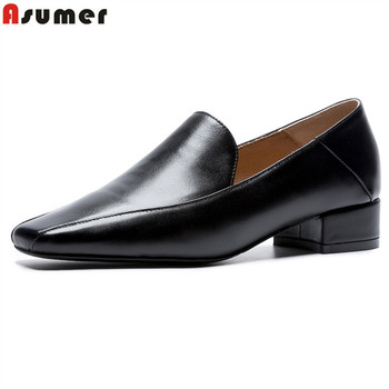 ASUMER 2020 New Handmade shoe black dress shoes Casual Work Driving Shoes Women Genuine Leather shoes women drop ship