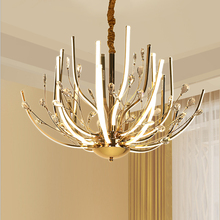 Postmodern luxury art villa simple crystal chandelier lighting creative personality living room restaurant lights
