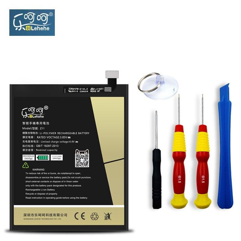 LEHEHE Batteria Per ZTE Nubia Z11 NX531J Li3829T44P6h806435 3000 mAh Sostituzione Batteria Ricaricabile Batteria di Alta Qualità Regalo