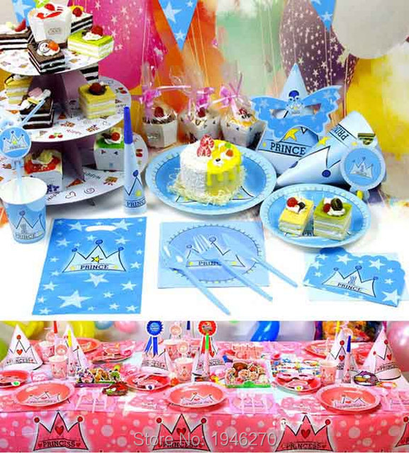 Prince Princess theme Birthday Party decoration Party supplies up