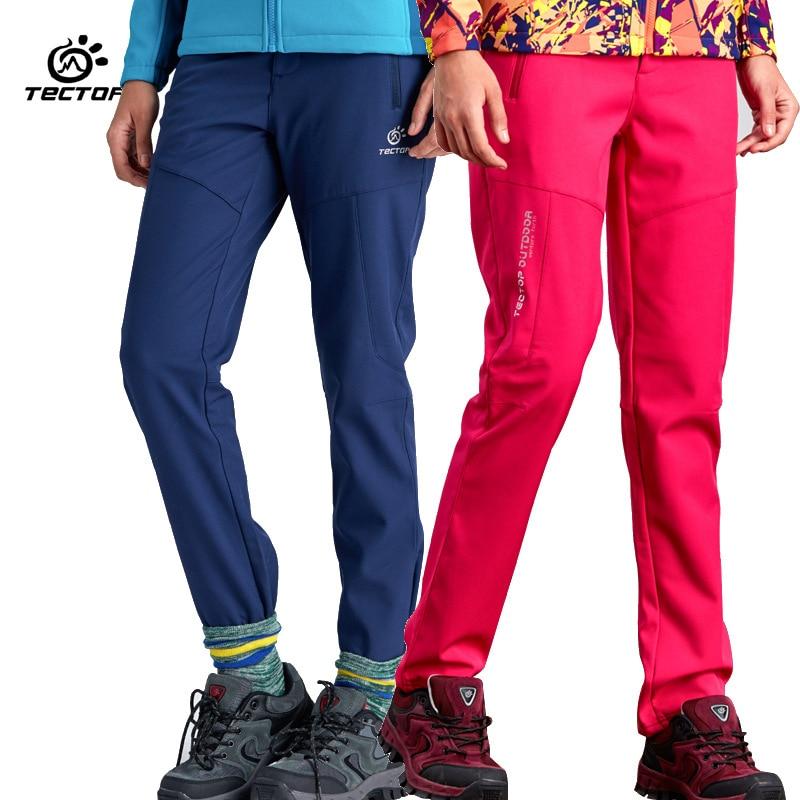 2016 Autumn Winter Brand Women Softshell Hiking Pants Girls Outdoor Sport Waterproof Windproof Thermal Fleece Climbing Trousers цена