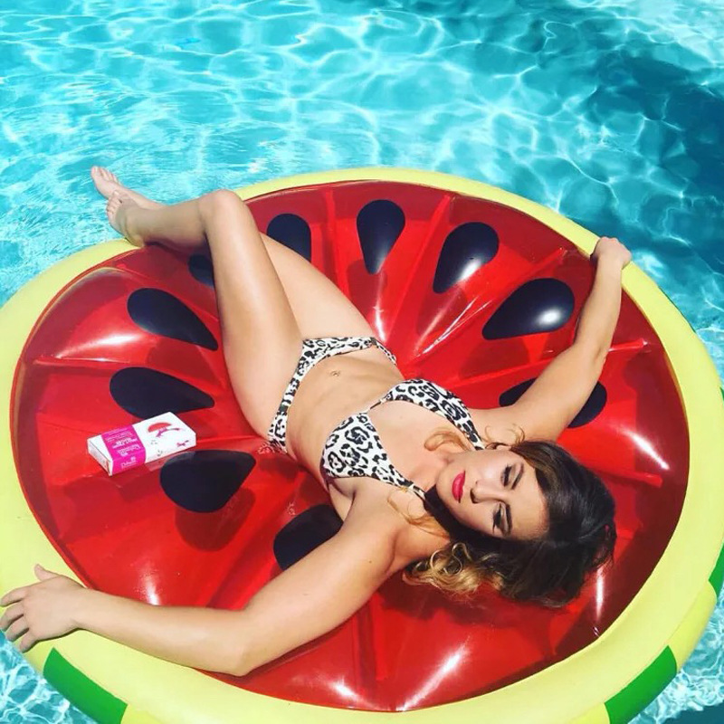 Giant 143cIn Flatable Float Bed Pool Float Watermelon Lemon Mattress For Adult Tube Raft Swimming Summer Water Toy Boia Piscina