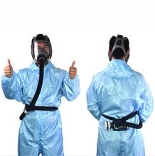 Электрическая Полнолицевая газовая маска с постоянным потоком, портативный инструмент для покраски распылением, сварочный шлем, респиратор, система Y
