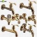 Modern Free Shipping Antique Brass Decorative Outdoor Faucet Tap Bathroom Washing Machine Mop Faucet