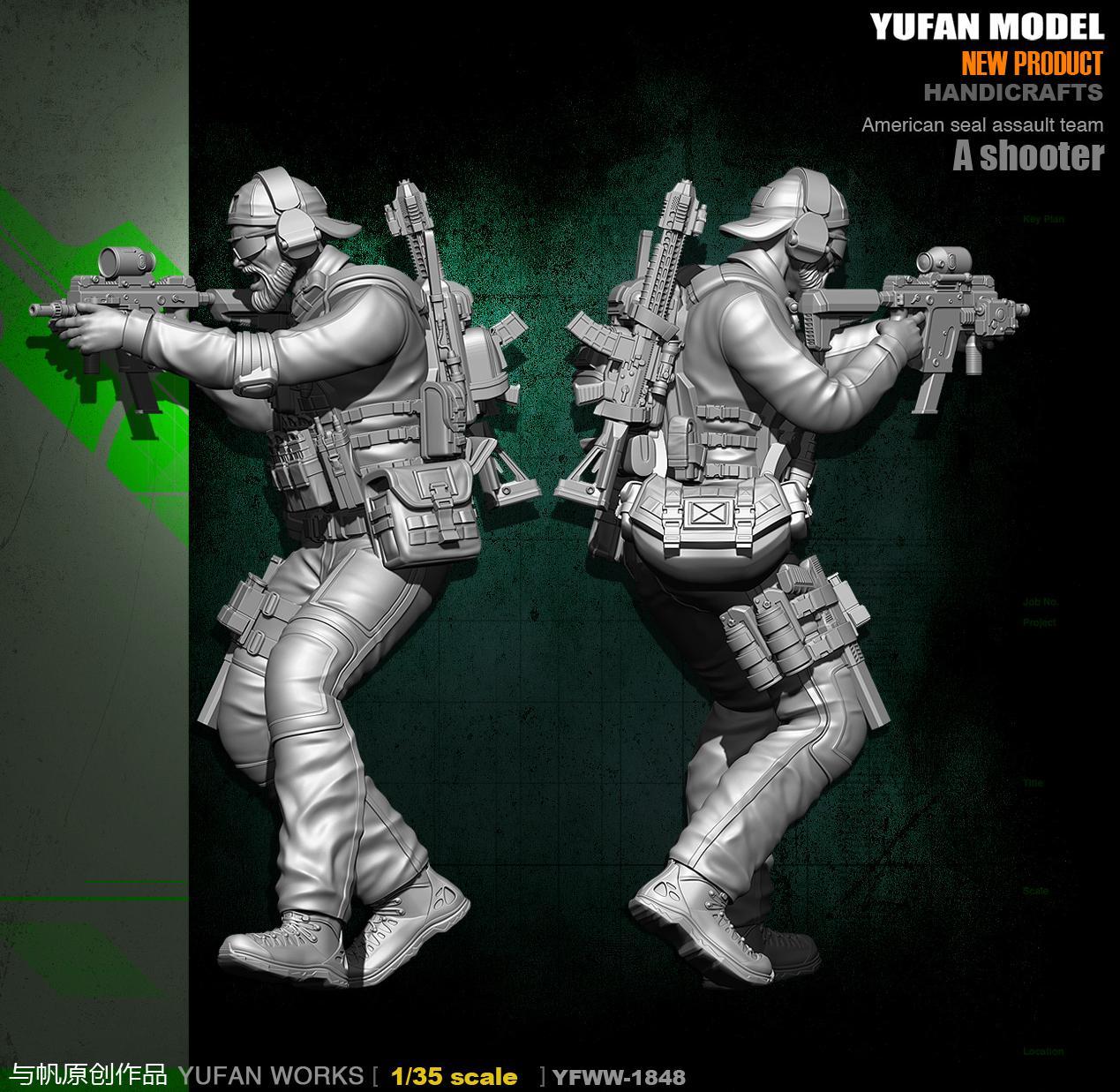 Yufan Model 1/35 Model Kit Resin Soldie US Army YFWW35-1848