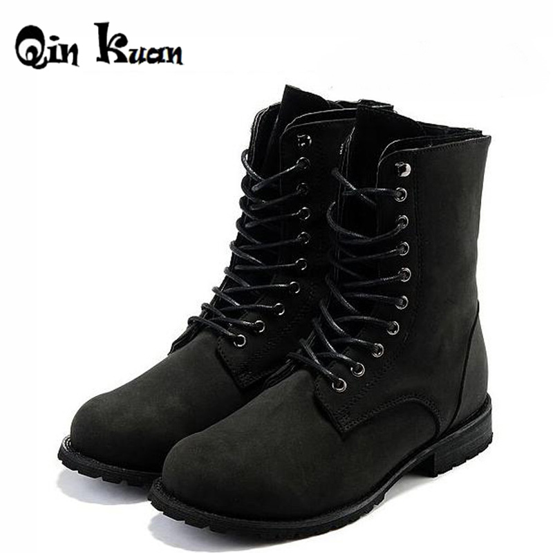 XingDeng Brand Retro Combat Boots Winter England Style Fashion Men Pu Leather Motorcycle Boots Martin Ankle Boots Size 39-44