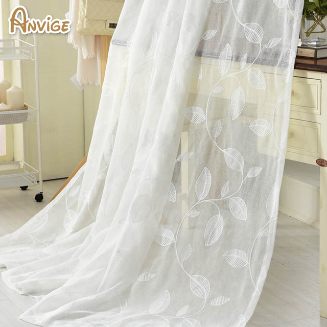 New Arrival White Tulle Cotton Linen Fabric Sheer Curtains