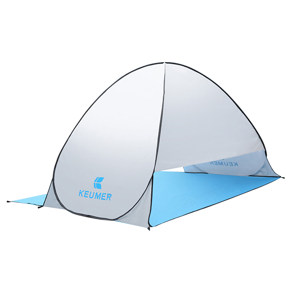 Image 3 - (120+60)*150*100cm Outdoor Automatic Instant Pop up Portable Beach Tent Anti UV Shelter Camping Fishing Hiking Picnic-in Tents from Sports & Entertainment