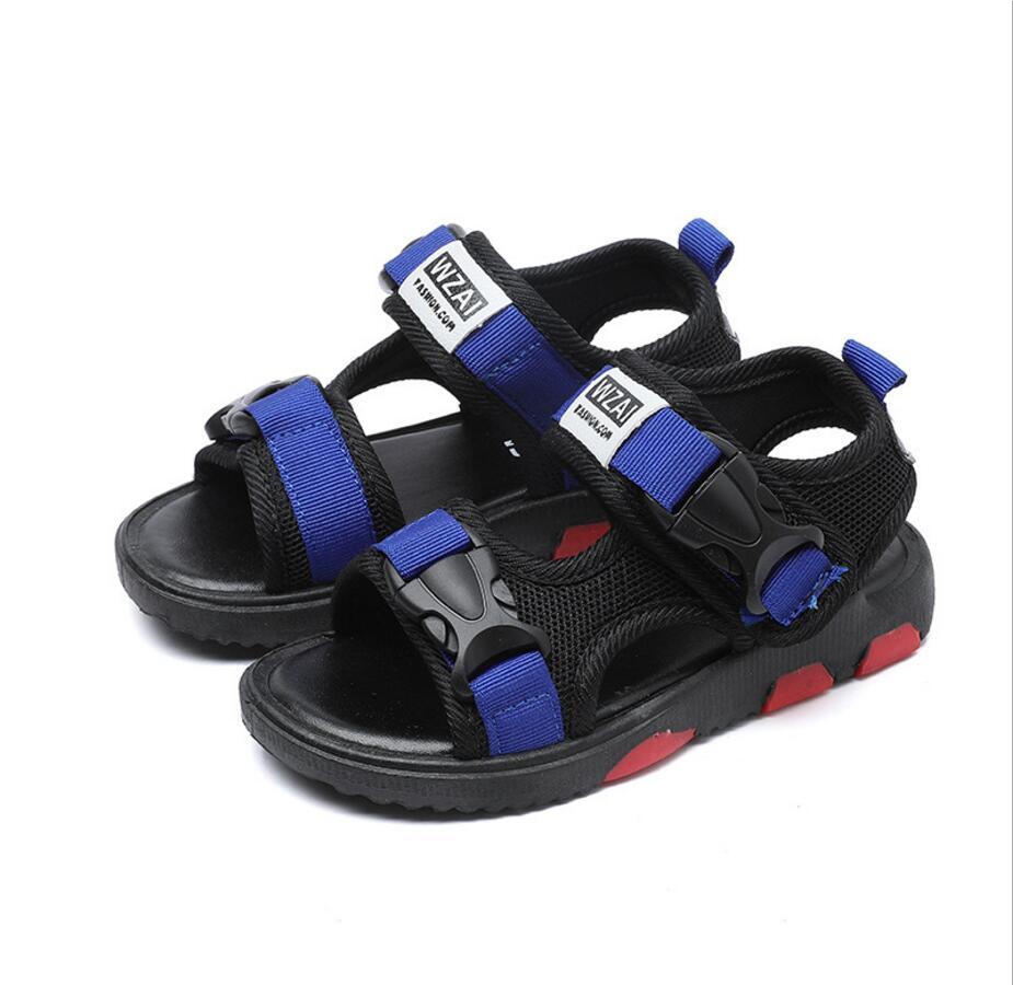 Boys Sandals fashion summer Shoes For Children Gladiatorr PU leather Beach School Shoes 2018 New Roman sandals girl boy
