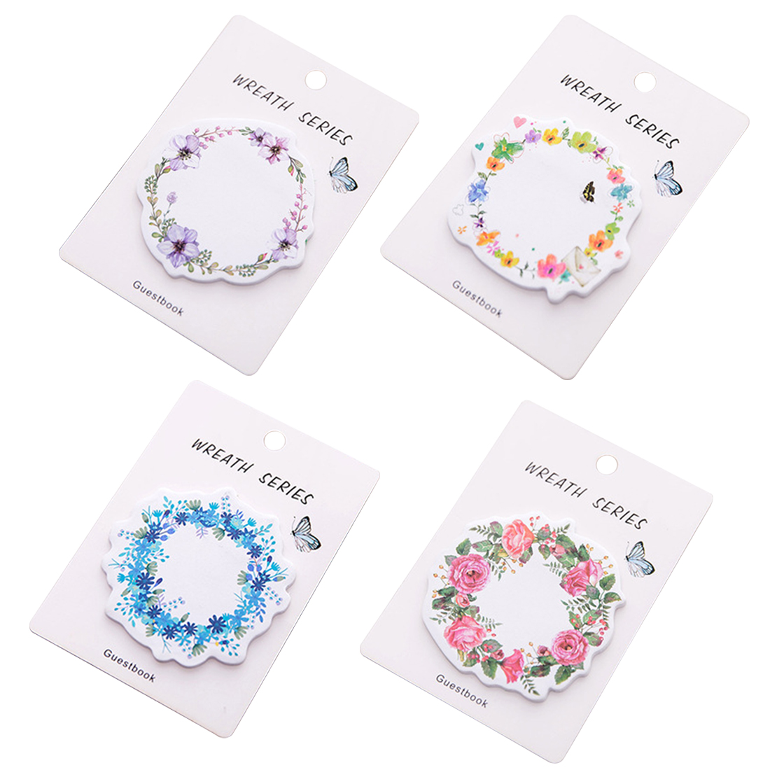 FangNymph Kawaii Wreath Post Notes Weekly Plan Sticky Notes Post Memo Pad Stationery School Supplies Planner Stickers Paper