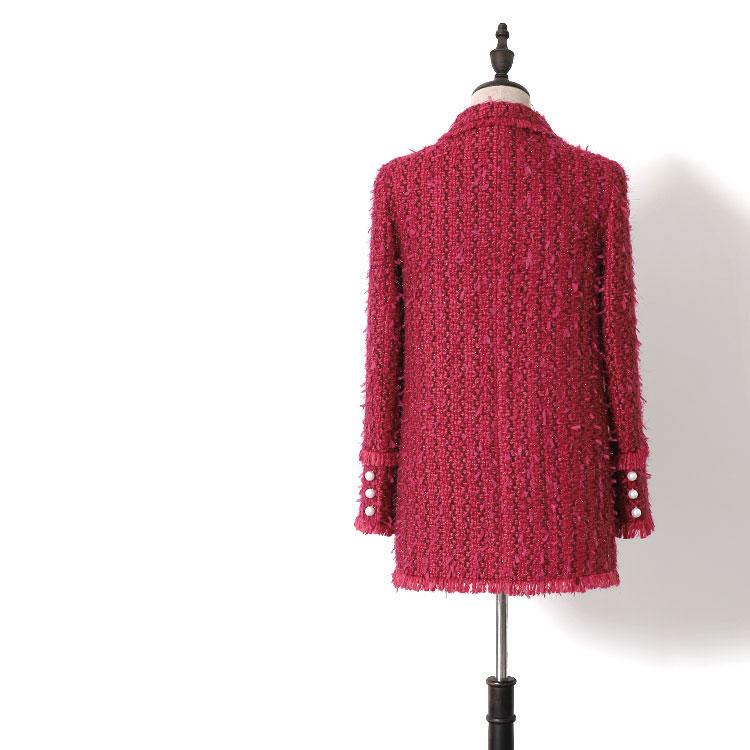 Belle 2019 Petite Déesse Nouveau Tempérament Filles Wt0085 Infrarouge Costume Manteau Hepburn Tweed Parfum Reine UyLqYS1Tq