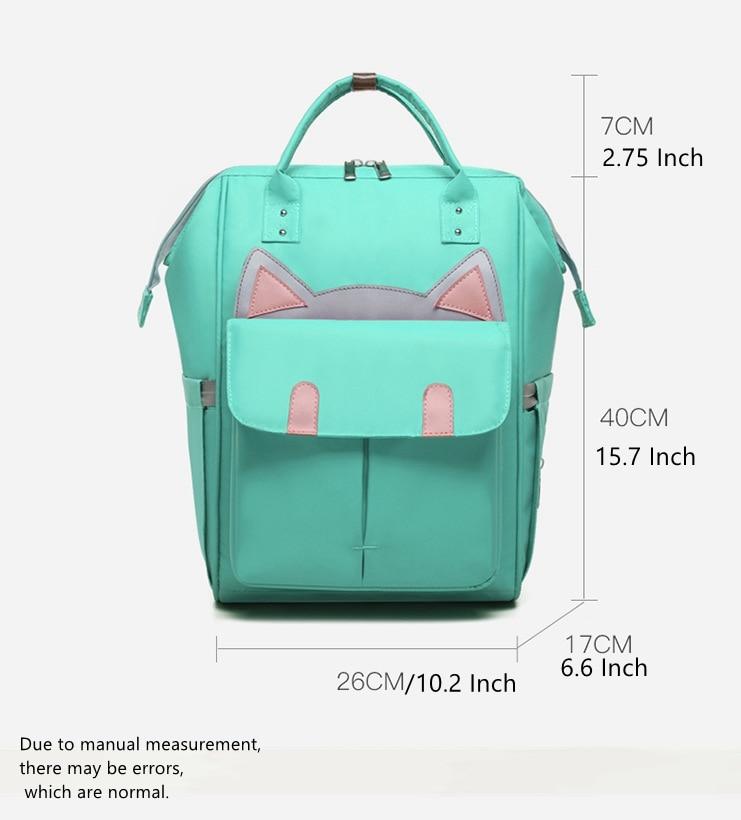 New Apprival Cartoon Upgrade Fashion Backpack Mummy Bag Multi-function Large Capacity Maternal and Child Bags Handbag (5)