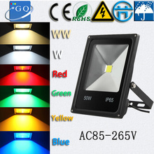 free ship 85-265 10W 20W 30W 50W 70W 90W led flood light Outdoor square building projector search Industry luminaire lamp
