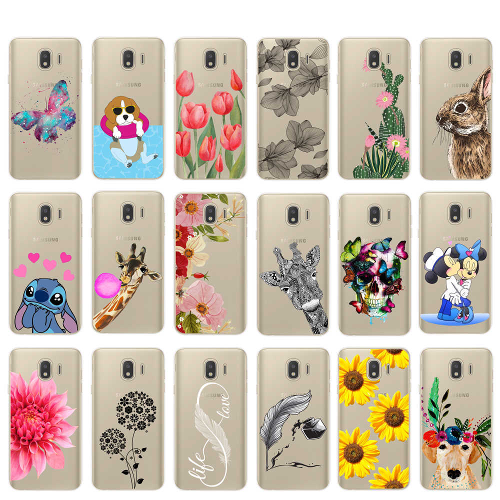 soft case For Samsung J4 J6 Plus 2018 Cases Print Back Soft TPU Cover For Coque Samsung  J3 J5 J7 2016 2017 Capas Note 8 9 cover