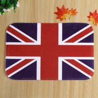 2015 New High Quality UK Flag Carpet Coral Velvet Anti-slip Household bathroom carpet door mat 40x60cm Free shipping