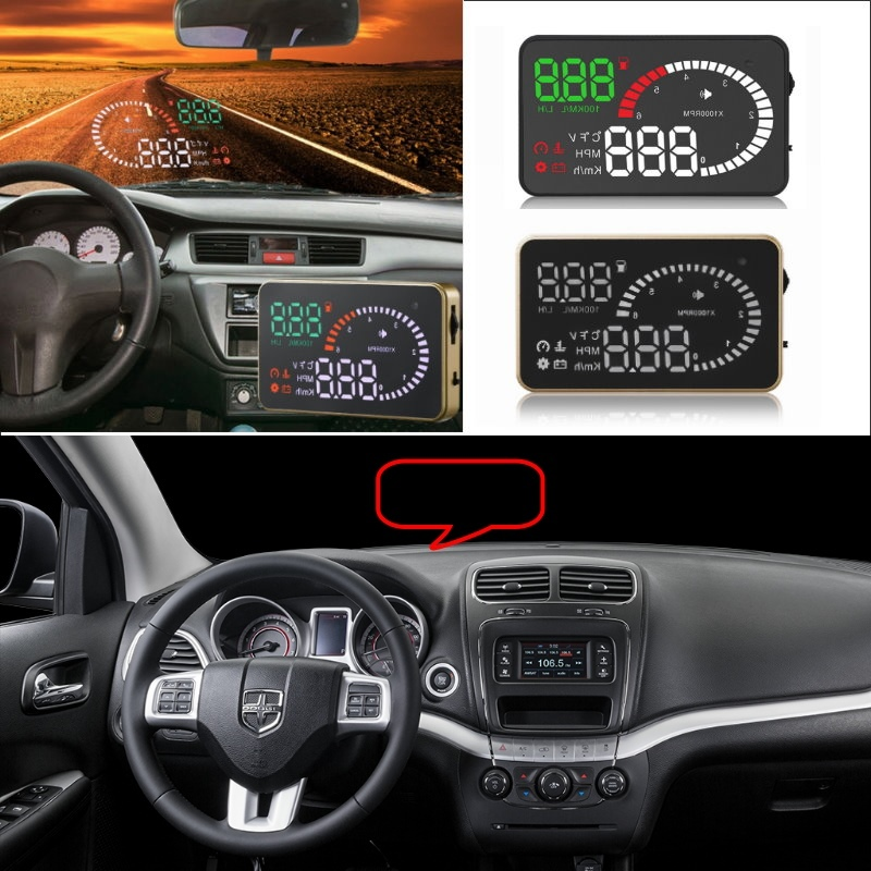 Liislee Car HUD Head Up Display For Dodge Journey Caliber Ram 1500 Charger Challenge - Safe Screen Projector / OBD II Connector liislee car hud head up display for subaru forester xu impreza legacy outback safe screen projector obd ii connector