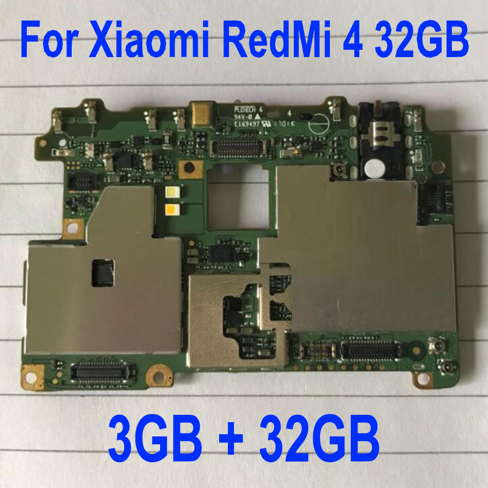 Global Firmware Original Mainboard For Xiaomi Redmi 4 Pro Prime Motherboard Main Board Card Fee Chipsets Flex Cable 3GB 32GB