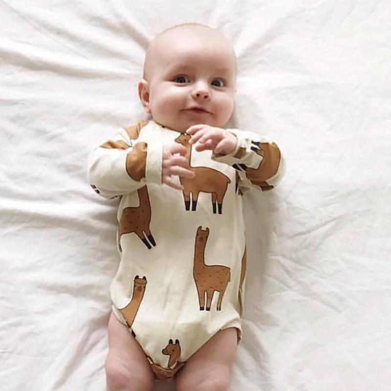 c0a555fe03147 TinyPeople Alpaca Llama Bodysuit Baby Boys Girls Jumpsuit Baby Clothing  Vestidos 2019 Summer Autumn Bobo Chose