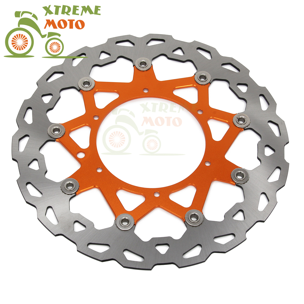 320MM Front Wavy Floating Brake Disc Rotor For KTM EXC GS MX SX SXS MXC XCW EXCF SXF XCF 125 144 150 200 250 300 350 380 400 450 front brake disc rotor for ktm 380 exc 1998 1999 2000 2001 2002 sx mxc 1998 2001 400 egs exc g xc w 2007 2008 2009 07 08 09