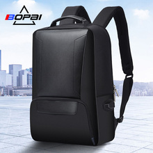 BOPAI Laptop Backpack USB External Charge 15.6 Inch Shoulders Anti-theft Microfiber Laptop Backpack Waterproof Travel Backpack bopai usb external charge enlarge anti theft laptop backpack for school multifunction laptop bag 15 6 inch men backpack travel