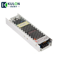 Meanwell 200W UHP 200 Slim Type Ultra thin LED Industrial Switching Power Supply with PFC 5V 12V 15V 24V 36V 48V Free Shipping