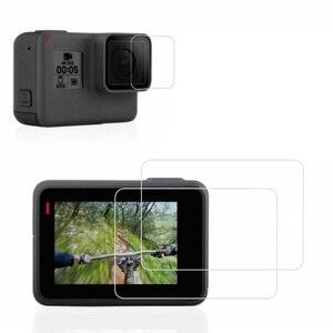 Image 3 - VSKEY 100PCS Vetro Temperato per GoPro hero 7 6 5 Schermo lcd Video/fotocamera Protector + Pellicola di Protezione per hero 5/6/7