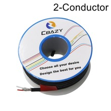 2C-Black-8M-UL 2547 28/26/24 AWG Multi-core control cable copper wire shielded audio cable headphone cable signal line real cable cr2510 2c 4pcs